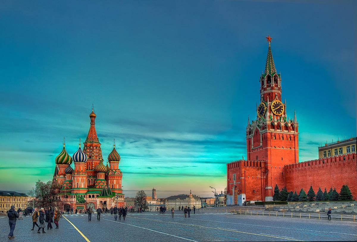 俄罗斯首都莫斯科的红场和圣母升天大教堂