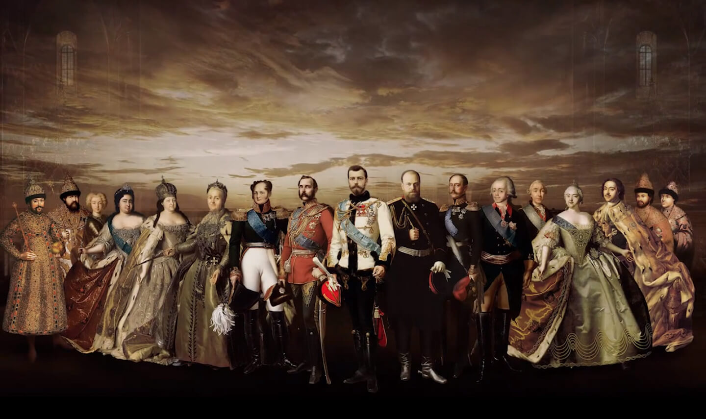 俄罗斯历代沙皇合影