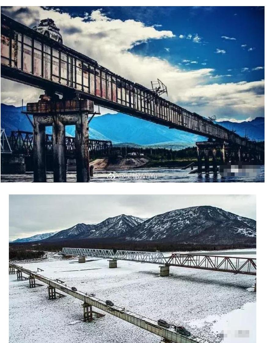 这是吴老师遇难的贝加尔湖以北300多公里处的Витим大桥附近
