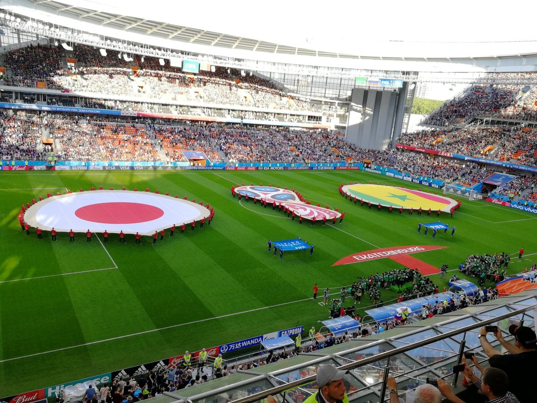"""2018年俄罗斯世界杯""""日被 – 塞内加尔""""小组赛,我和我的朋友们有幸亲临现场观看"""