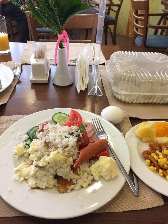酒店的自助早餐