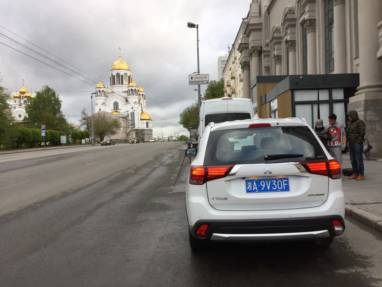 在滴血教堂进行航拍开车影像
