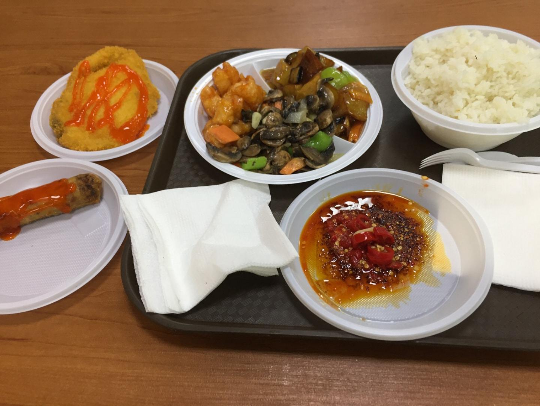还是家和饭店的菜,快餐(1分米饭+3个菜)=20元, 左边是 越南餐厅的炸春卷+鸡排 = 16元,味道很不错,这基本是我去必点的