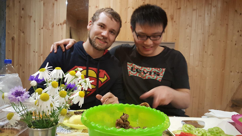 和我的俄罗斯朋友Denis聚餐