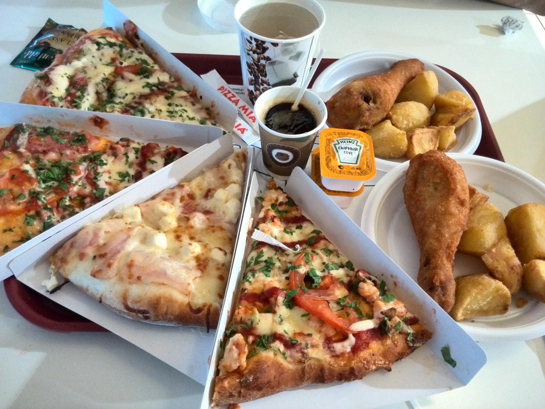 叶卡捷琳堡的披萨快餐店 – Pizza Mia,价格下面说
