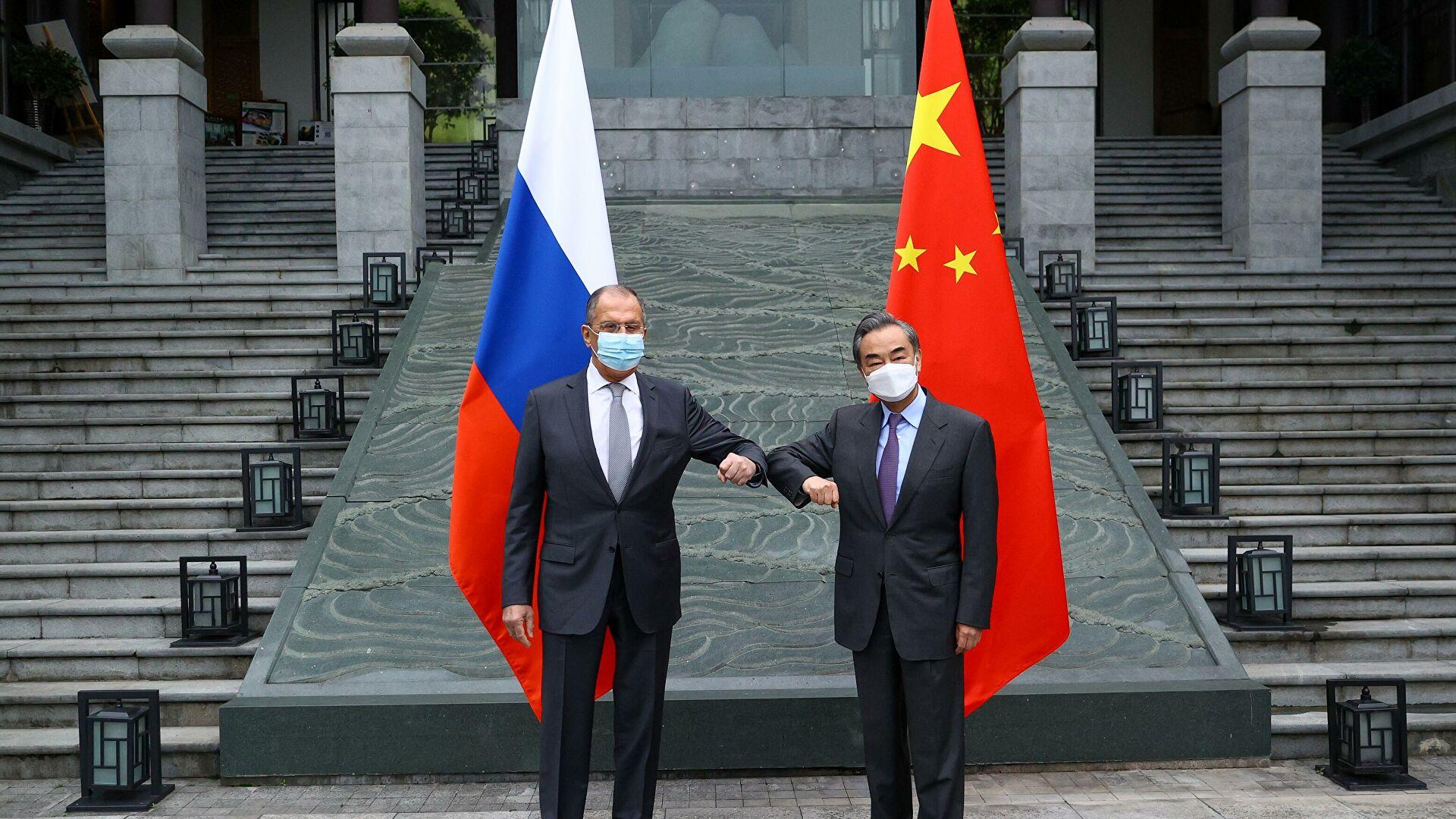 王毅部长和俄罗斯外长拉夫罗夫会面