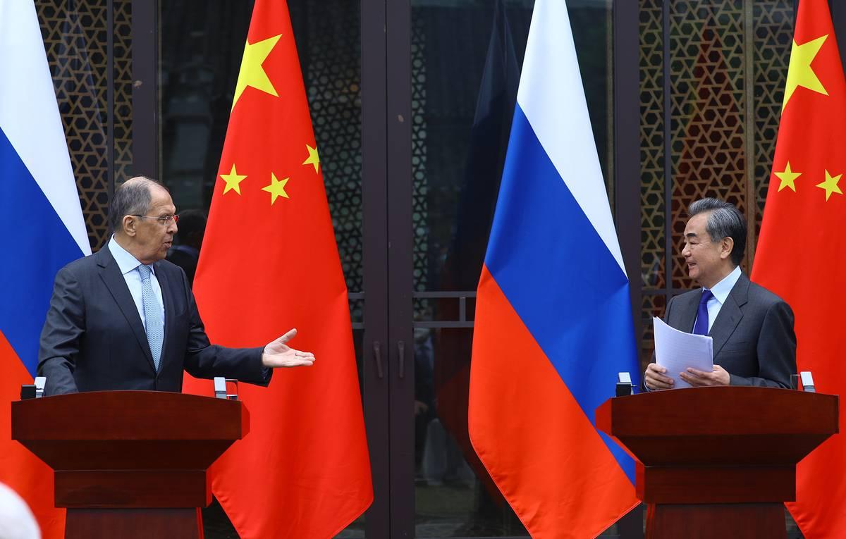 在桂林俄外长拉夫罗夫和王毅部长发表了联合声明