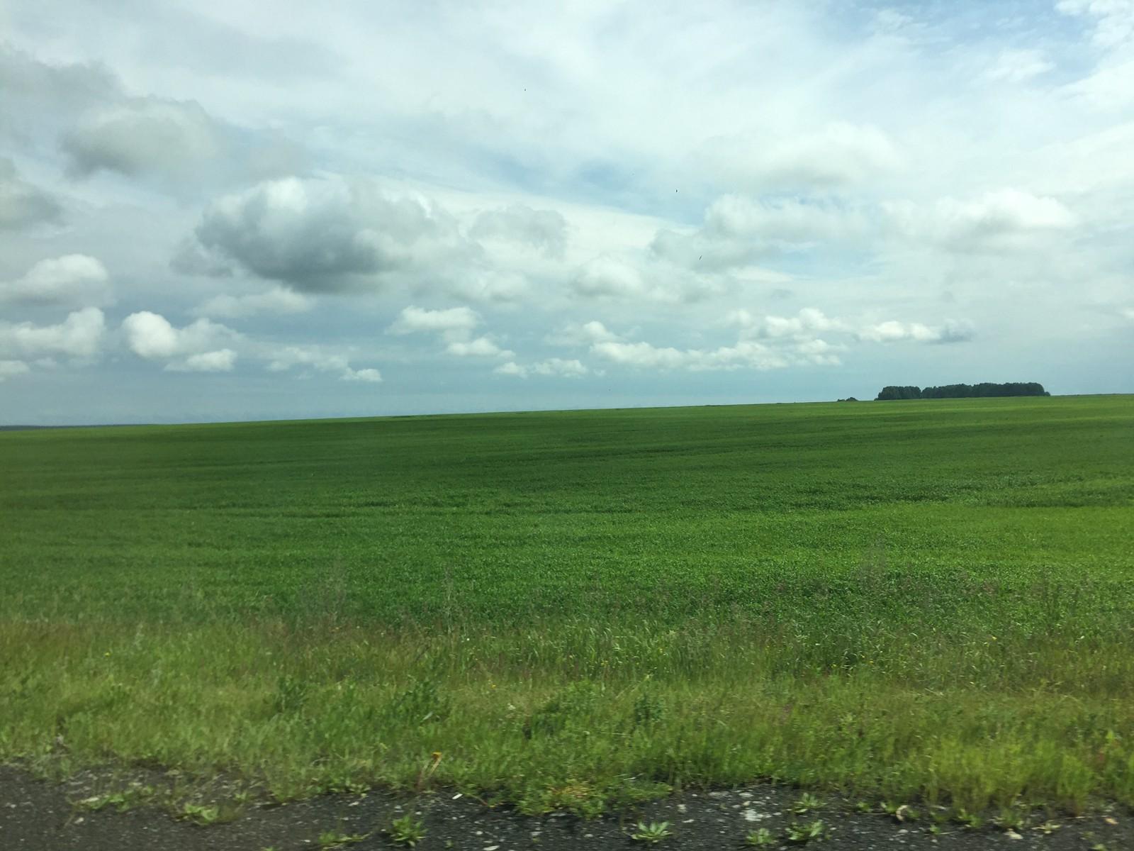 开车去阿拉帕耶夫斯克,路上经过一大片草原,俄罗斯的自然环境是极好的。这条路我在2018/2019年又走了两次,主要是去拜访当时我在工地认识的几个俄罗斯朋友
