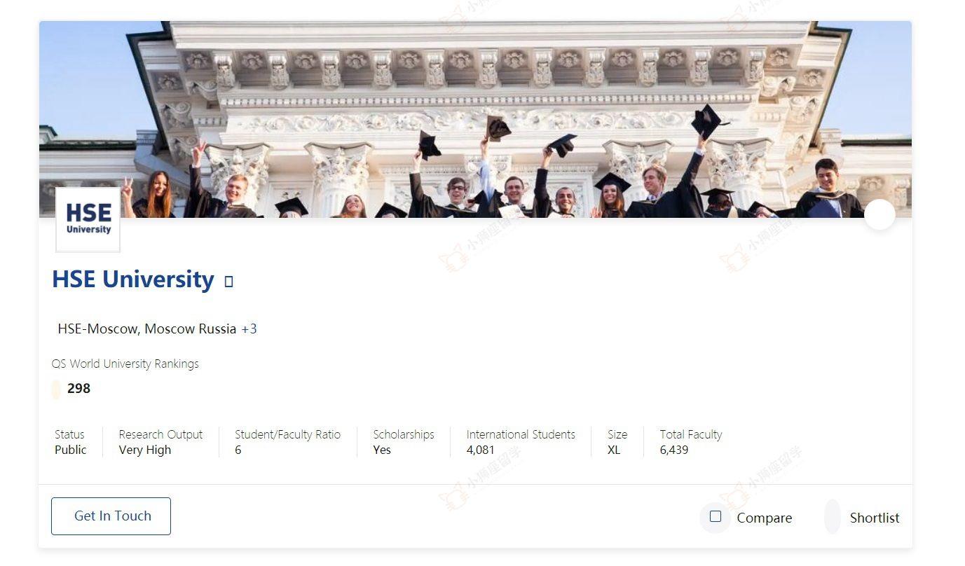 QS世界大学排名2021年HSE排名298名