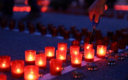 乌拉尔联邦大学举行的卫国战争烛光悼念活动现场