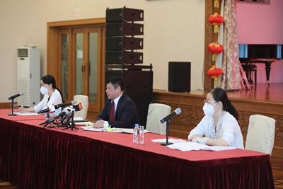 驻俄罗斯使馆就中国共产党成立100周年举行中俄媒体见面会 – 俄罗斯新闻插图1-小狮座俄罗斯留学