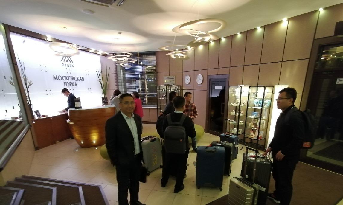 抵达了叶卡最大的宾馆之一莫斯科山宾馆,此次这个团队来叶卡主要是和交大谈合作办学项目