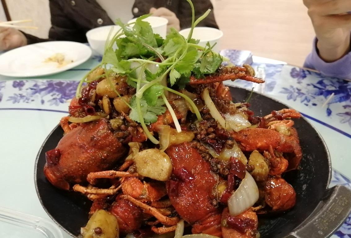 川香味的大虾,一只就有半斤重|叶卡捷琳堡