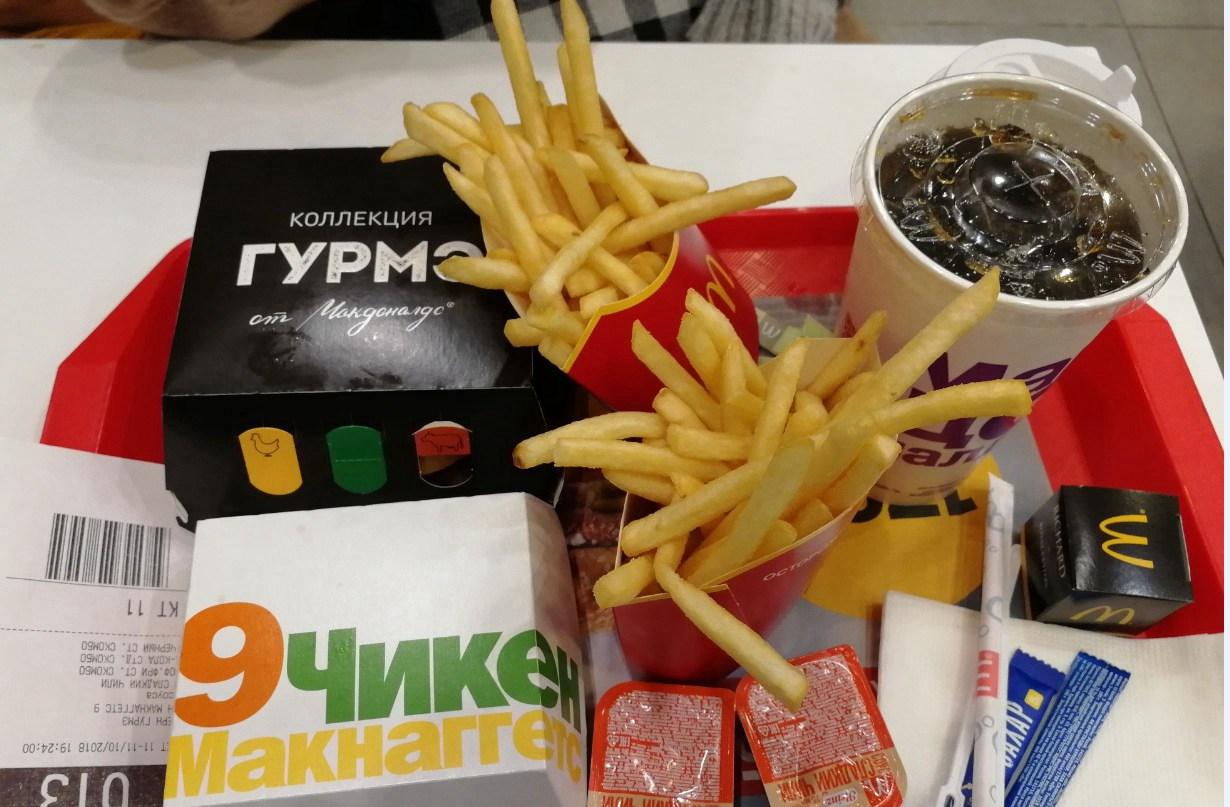 在叶卡捷琳堡吃的麦当劳,这个味道都快一年多没吃到了