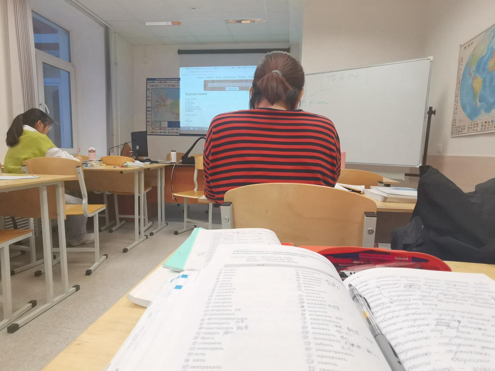 去年学生12月的预科上课实况|俄罗斯留学预科|俄罗斯大学预科学习