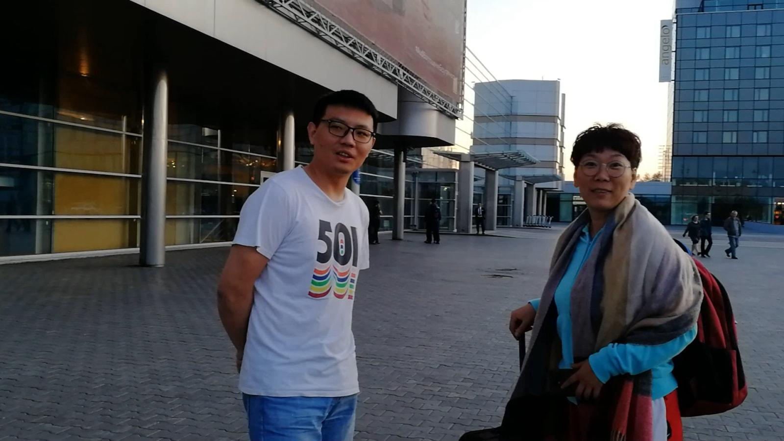在叶卡捷琳堡机场碰面了