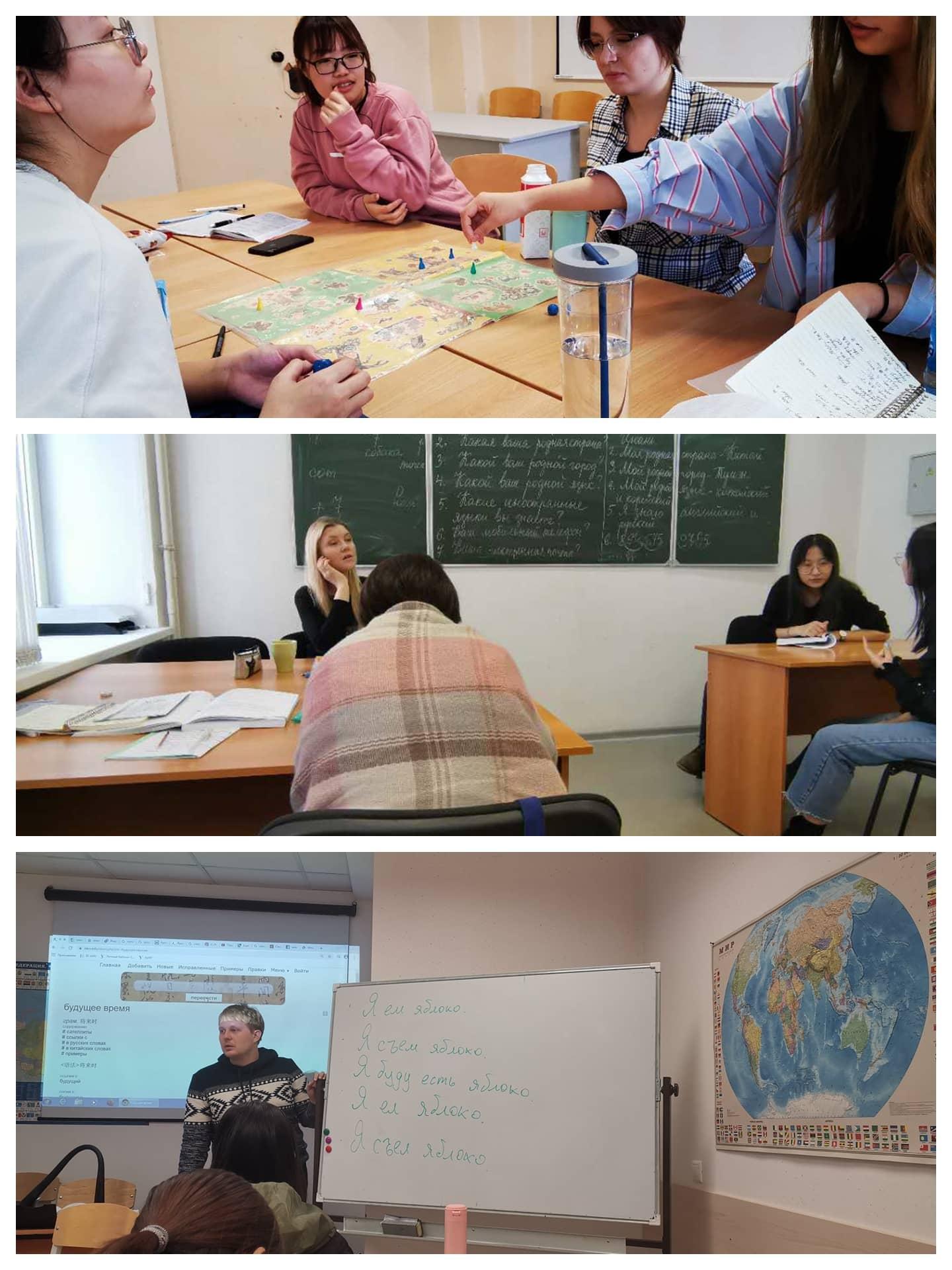 我公司2019年9月入学的学生在乌拉尔联邦大学的预科课堂上实拍