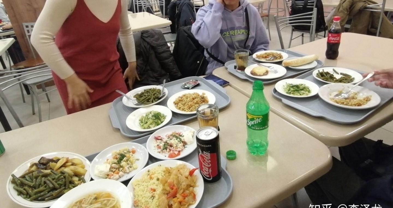 俄罗斯大学食堂饮食 俄罗斯留学的真实生活 俄罗斯留学 俄罗斯的生活 留学生活