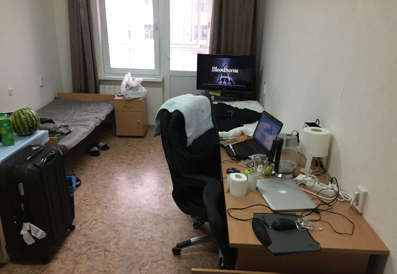 乌拉尔联邦大学5号宿舍房间内部 俄罗斯留学的真实生活 俄罗斯留学 俄罗斯大学宿舍