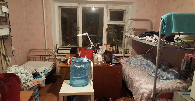 乌拉尔联邦大学1号宿舍房间内部 俄罗斯留学的真实生活 俄罗斯留学 俄罗斯大学宿舍